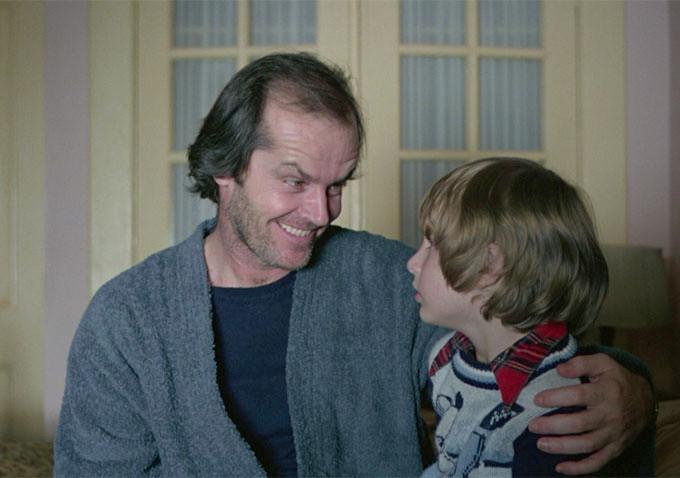 《鬼店》劇照。史帝芬金不滿意庫柏力克導演詮釋主角傑克的方式。
