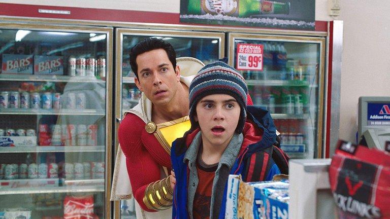 DCEU《沙贊!》電影劇照,中二少年變身超級英雄的歡樂故事。