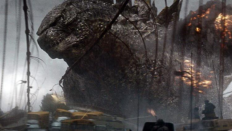 2014 年傳奇影業所推出的怪獸電影《哥吉拉》劇照。