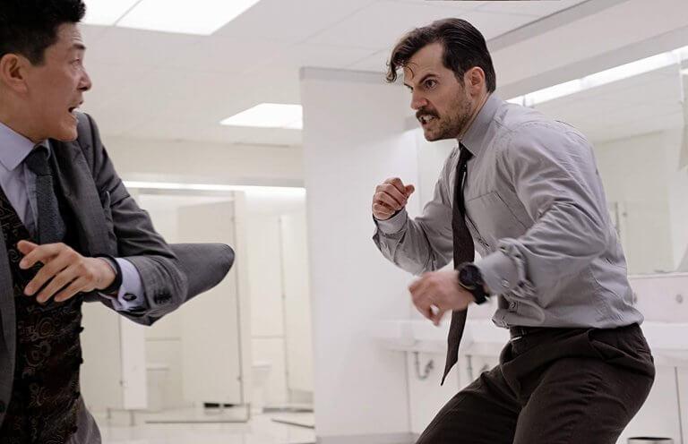 《不可能的任務:全面瓦解》亨利卡維爾的廁所打鬥橋段。