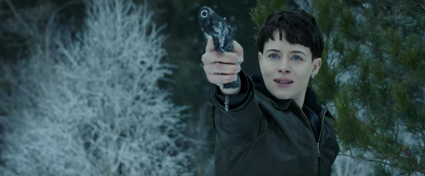 《 蜘蛛網中的女孩 》預告片中的雪地場景讓人聯想到《 007:空降危機 》。