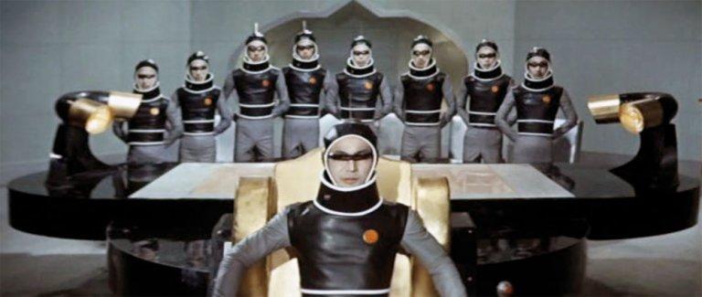 東寶 1965 年推出的電影《怪獸大戰爭》結合了當時冷戰與太空競賽的各種元素。