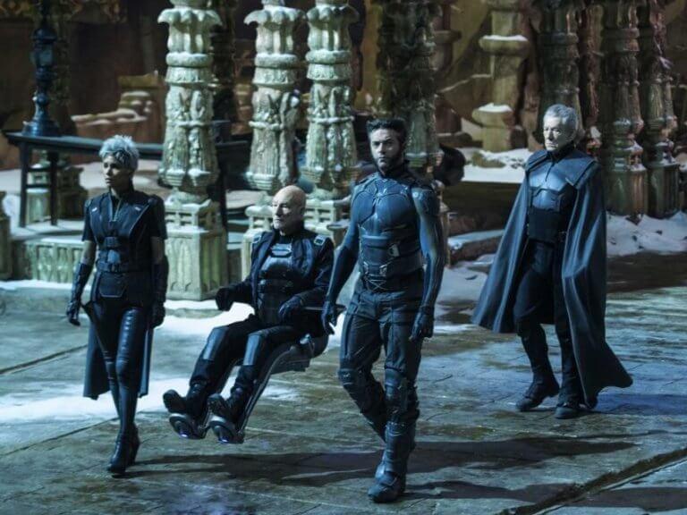 2014 年《X 戰警:未來昔日》中的金剛狼與 X 教授。