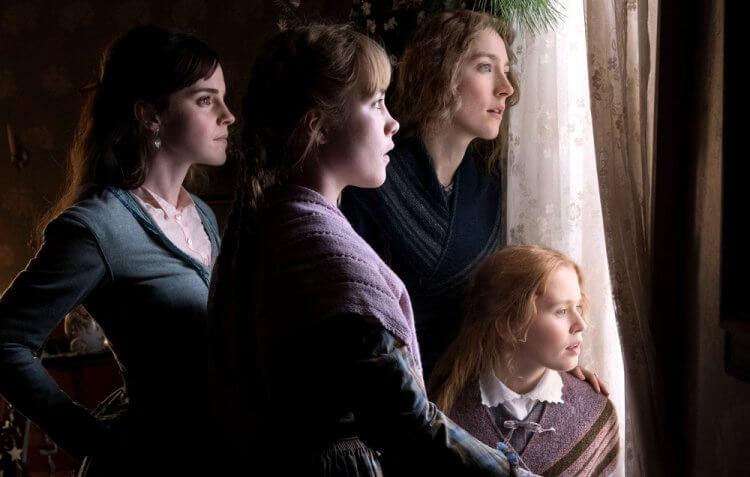 艾瑪華森、瑟夏羅南、弗洛倫斯佩治以及伊麗莎斯坎倫於新版小婦人電影《她們》飾演四姊妹。