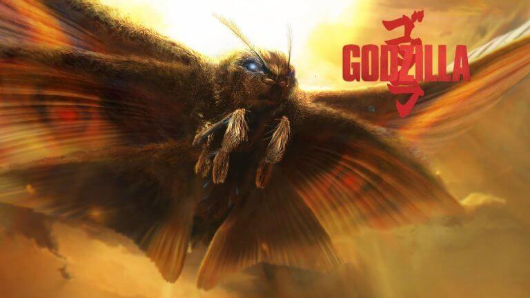 摩斯拉《哥吉拉 Ⅱ:怪獸之王》電影宣傳圖。