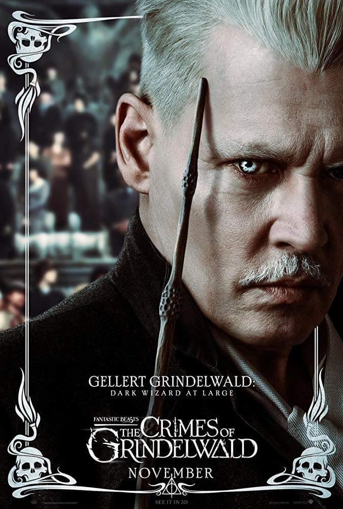 《怪獸與葛林戴華德的罪行》中,強尼戴普再次展現超高的演員魅力。