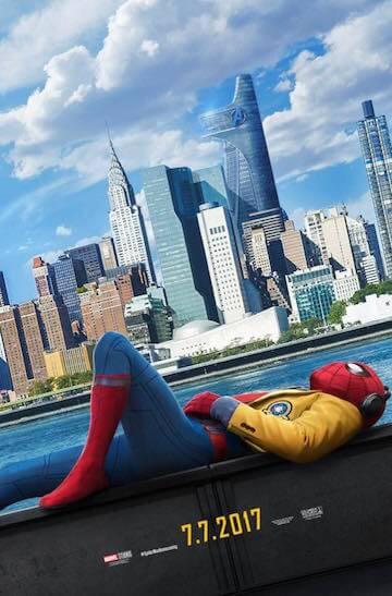 索尼影業手上握有漫威蜘蛛人系列角色的相關電影權利,並持續開發他們的「蜘蛛宇宙」,圖為《蜘蛛人:返校日》海報。