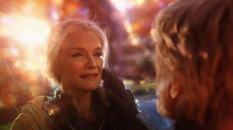 在《蟻人與黃蜂女》中,飾演初代黃蜂女的蜜雪兒菲佛戲份並不多。