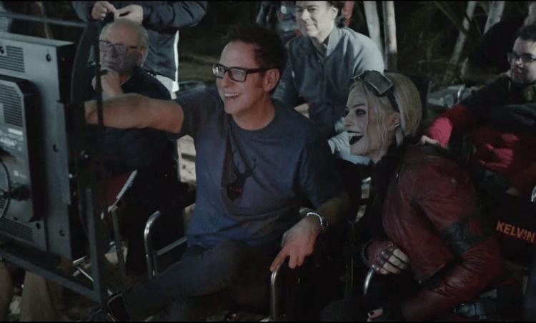 詹姆斯岡恩執導 DC 電影《自殺突擊隊:集結》的片場場邊照。