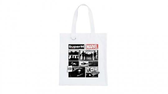 Marvel與SuperM推出的帆布袋