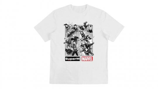 Marvel與SuperM聯名推出T-Shirt