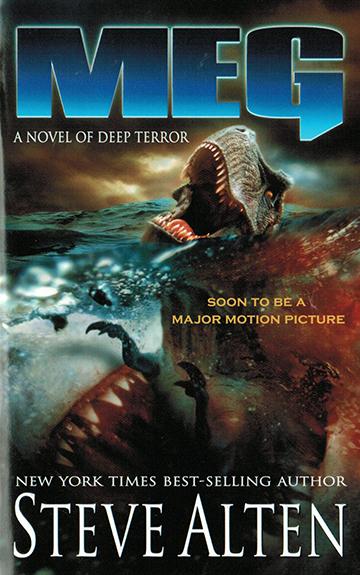 《 深海侏羅紀 》小說封面 。