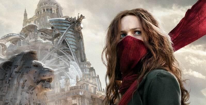 由同名小說改編的蒸汽龐克風格末日科幻電影《移動城市:致命引擎》,圖為赫拉希爾馬飾演的女主角:海絲特。