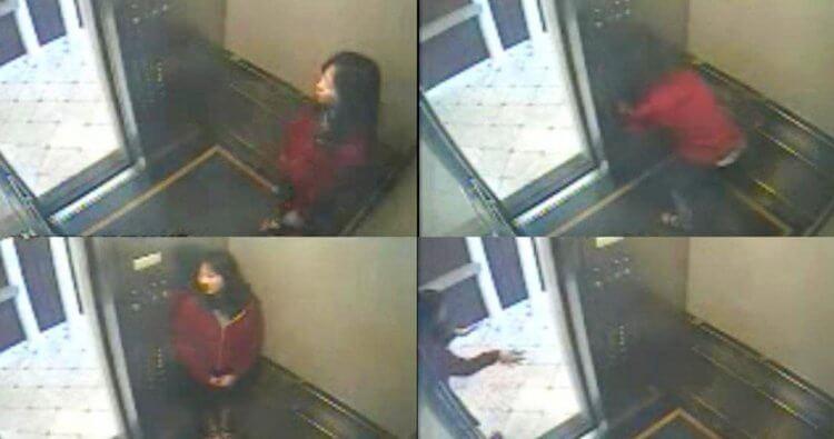 藍可兒事件:當時電梯監視器畫面。