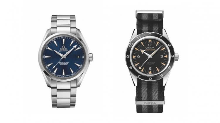 電影《007:惡魔四伏》中詹姆士龐德配戴的兩款 OMEGA 腕錶,其中海馬 300 米系列腕錶選用 NATO 錶帶。