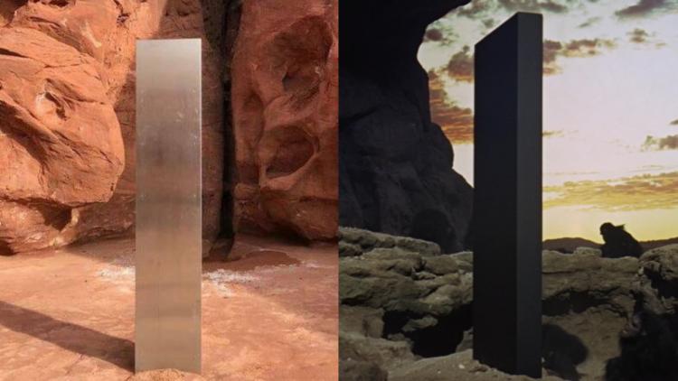 外星人的問候?美國猶他州出現的神秘「金屬柱體」, 神似《2001:太空漫遊》黑色石板!首圖