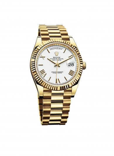 勞力士 Oyster Perpetual Day-Date 40 腕錶。