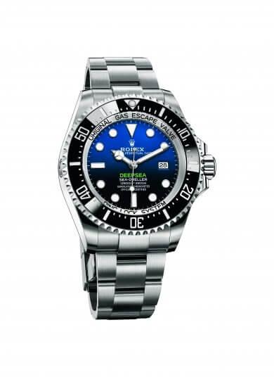 詹姆斯卡麥隆代言,勞力士 Oyster Perpetual Rolex Deepsea 腕錶。