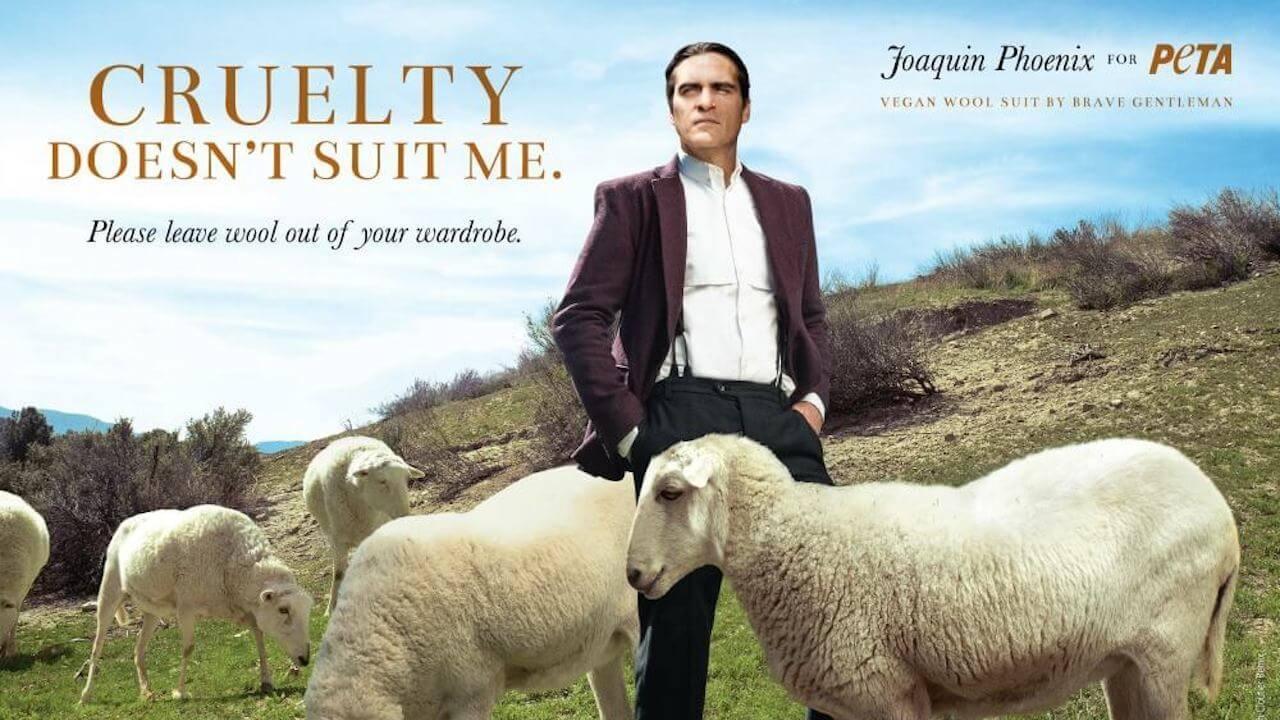 瓦昆菲尼克斯 (Joaquin Phoenix) 長期與PETA合作推行動保運動