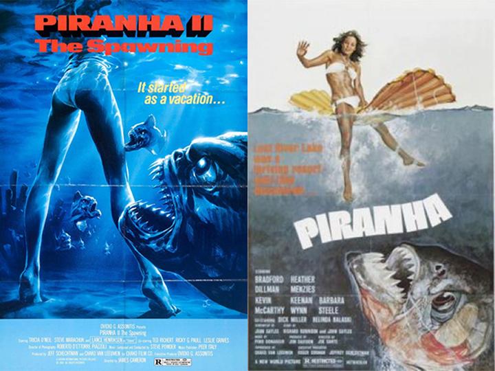 1978 年恐怖喜劇《 食人魚 》(Piranha)。