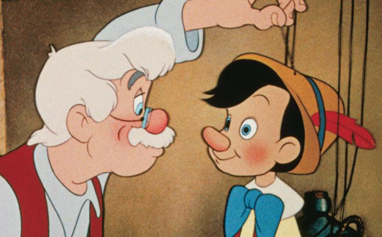1940 年《木偶奇遇記》動畫電影。