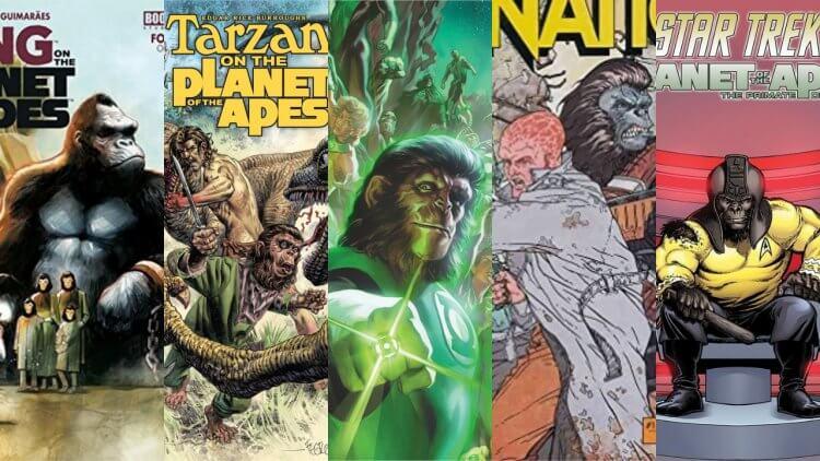《猩球系列》合作漫畫整理:與《星艦迷航記》、《泰山》、《金剛》等品牌的有趣劇情——首圖