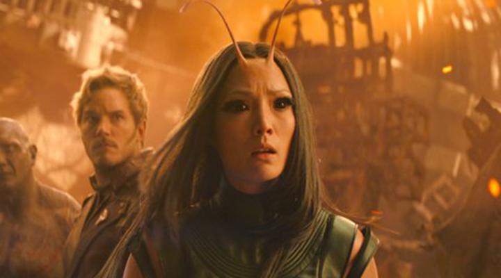 螳螂女 在《 復仇者聯盟:無限之戰 》中的劇照。