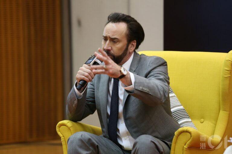 尼可拉斯凱吉與澳門國際影展開幕典禮的參加者分享他近來的演藝心得。