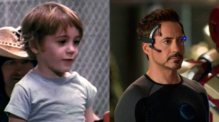 小小勞勃道尼長大之後居然成為了家譽戶曉的超級英雄「 鋼鐵人 」。