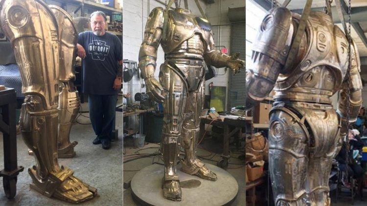 底特律等得好苦阿!籌備近九年、市民千盼萬盼的「機器戰警雕像」即將製作完成首圖