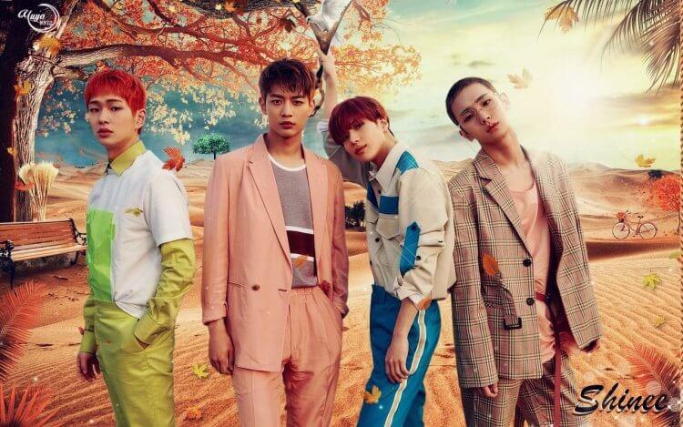 SHINee在2018年推出歌曲〈Good Evening〉宣傳海報