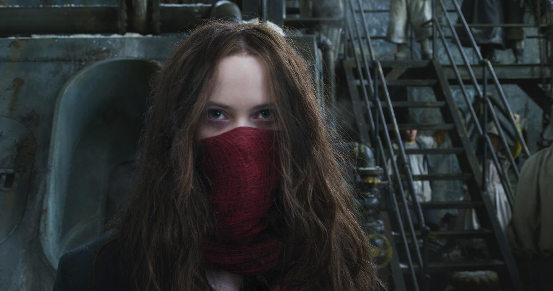 《 移動城市 : 致命引擎 》 劇照 女主角由 赫拉希爾馬 飾演。