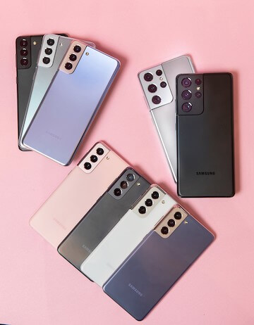 Samsung Galaxy S21 5G 旗艦系列手機。
