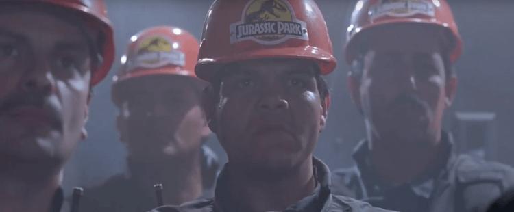 《侏羅紀公園》工作人員的頭盔。