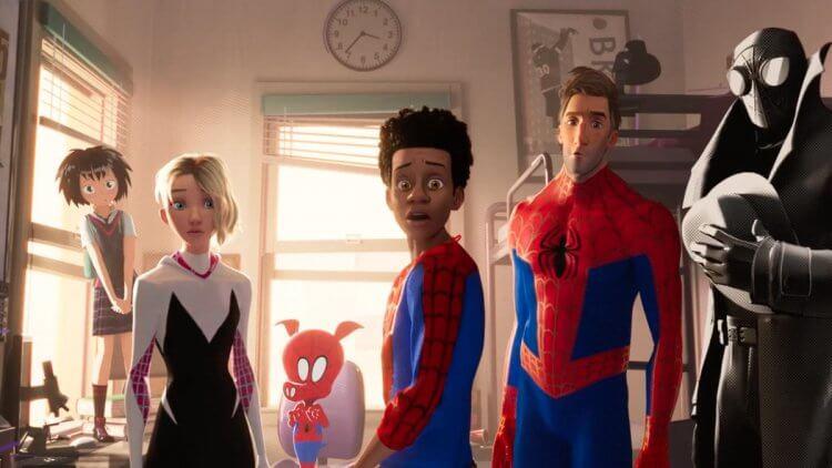 動畫電影《蜘蛛人:新宇宙》中,包括我們熟悉的彼得帕克之外,還有蛛豬人、暗影蜘蛛人等不同故事宇宙的蜘蛛人現身。