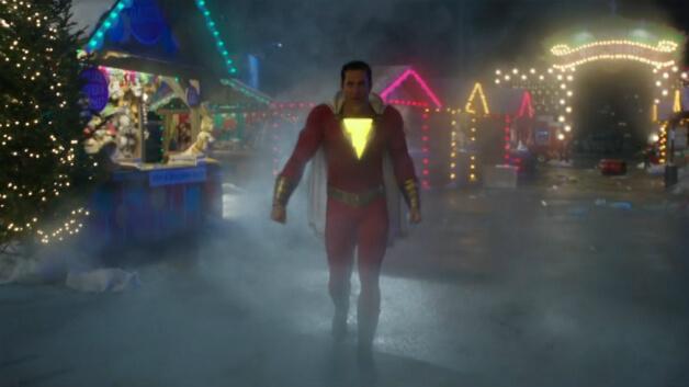 從《沙贊!》最新前導預告畫面,可看到沙贊與希瓦納博士在類似遊樂園的場景中戰鬥。