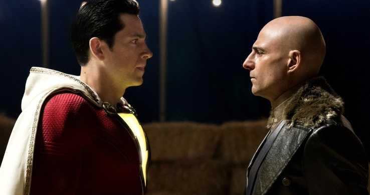 《沙贊!》片中,由柴克萊威飾演的「沙贊」對上馬克史壯飾演的反派「希瓦納博士」。