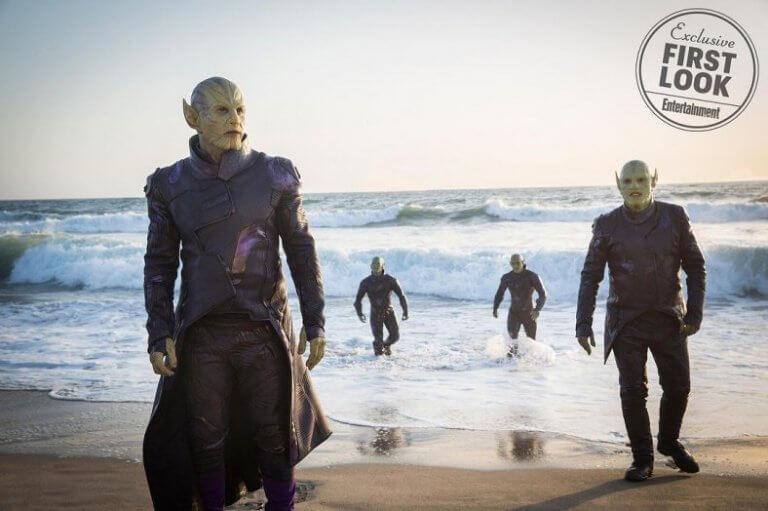 2018 年秋季外媒已公開《驚奇隊長》中史克羅人的相關劇照。