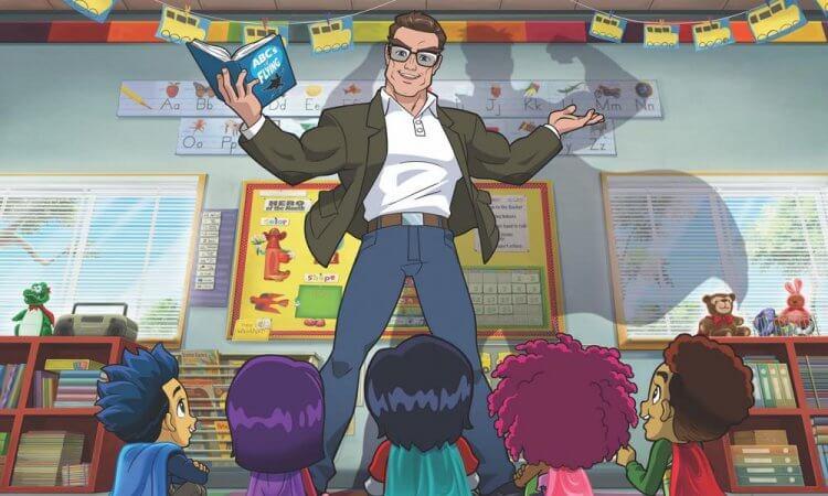 大師遺作即將實現  阿諾史瓦辛格共同製作的《史丹李的超級英雄幼兒園》2021年推出首圖