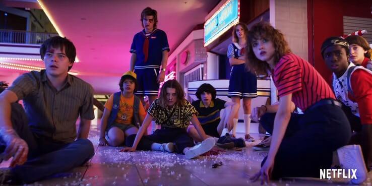 影集《怪奇物語》第 3 季預告畫面彩蛋解析:星城購物中心之戰。