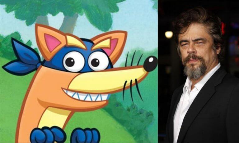改編自《愛探險的DORA》,真人版《朵拉與失落的黃金城》電影中班尼西歐戴托羅將為狐狸「搗蛋鬼」獻聲。