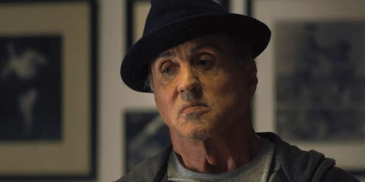「洛基」席維斯史特龍在《金牌拳手:父仇》的劇照。