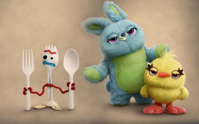 小叉(Forky)、鴨鴨 (Ducky)、兔兔 (Bunny)