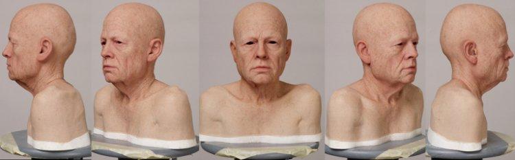 辻一弘為電影《班傑明的奇幻旅程》製作老人人像。
