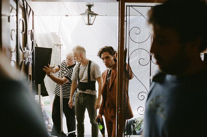 基特哈靈頓 《 約翰多諾萬的死與生 》片場照 。
