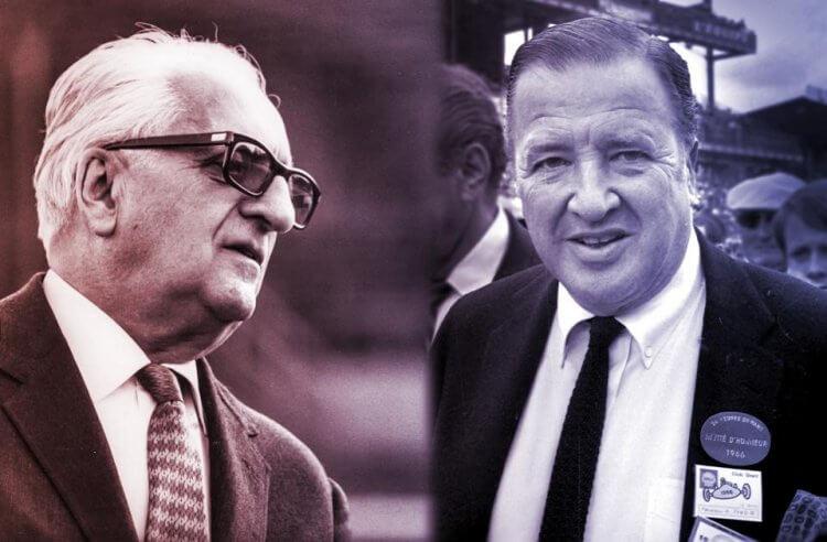 亨利福特二世(右)買取法拉利的協議眼看就要達成,但對條款不滿的恩佐法拉利(左)臨門踩了煞車。