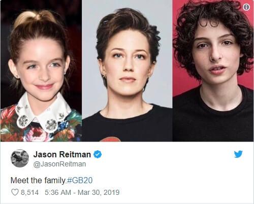 2020 年版《魔鬼剋星》導演傑森瑞特曼,在推特透露選角人選包括麥肯娜葛瑞絲、凱莉庫恩以及芬恩沃夫哈德 。