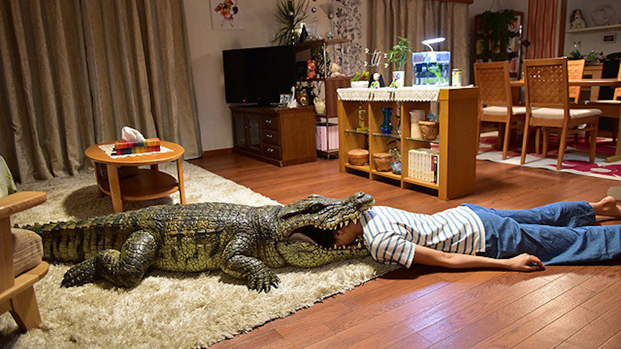 日本片 《 每天回家老婆都在裝死 》 劇照 。