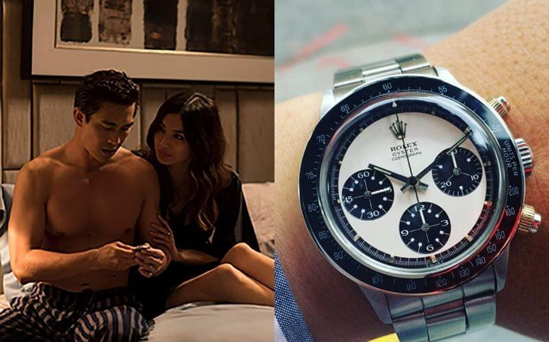 《 瘋狂亞洲富豪 》片中, 亞絲翠 送給丈夫的 勞力士 手錶。
