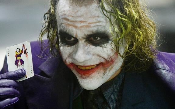 希斯萊傑飾演的小丑
